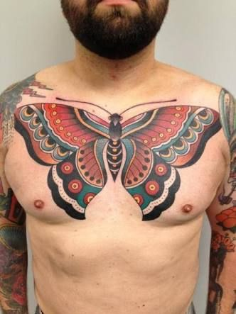Image Result For Butterfly Chest Tattoo Mens Butterfly Tattoo Butterfly Tattoo Tattoos