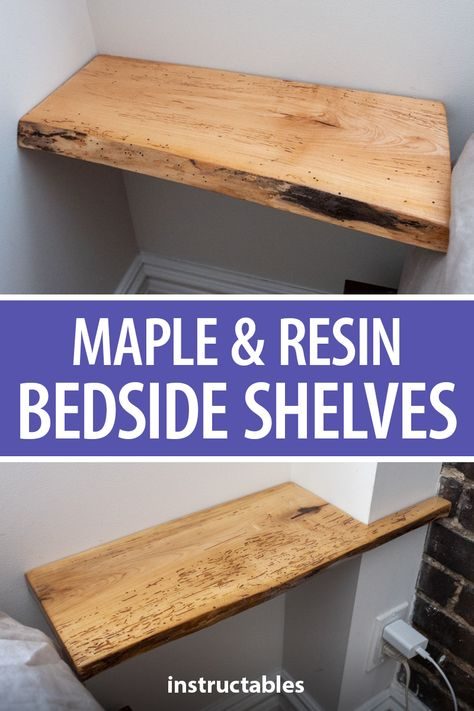 Incorporate epoxy resin and silver embellishments into simple Maple bedside tables.  #Instructables #workshop #woodworking #furniture #bedroom