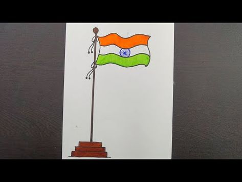 How To Draw An Indian Flag Draw Indian Flag National Flag Drawing Kids Drawing Youtube Flag Drawing India Flag Drawing For Kids