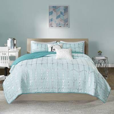 Willa Arlo Interiors Mangesh Comforter Set Reviews Wayfair Coverlet Set Aqua Bedding Intelligent Design