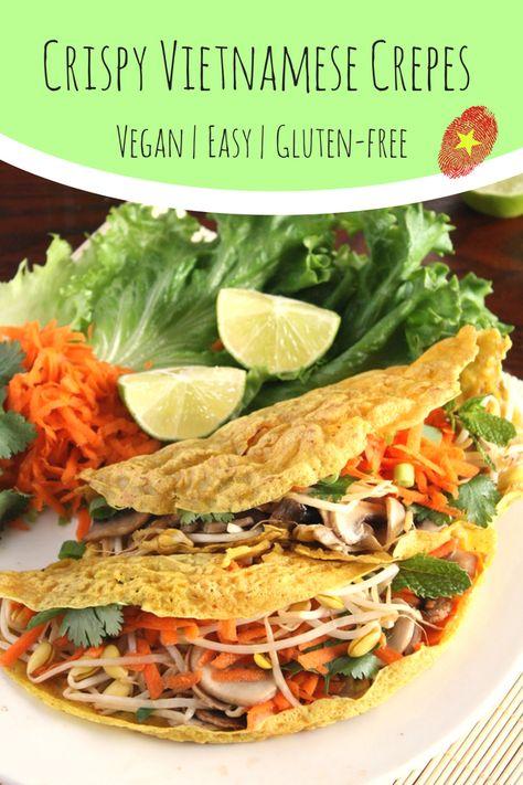 Crispy Vietnamese Crepes Bánh Xèo Vegan