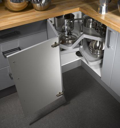 Rangement cuisine  les 40 meubles de cuisine pleins du0027astuces - amenagement placard d angle cuisine