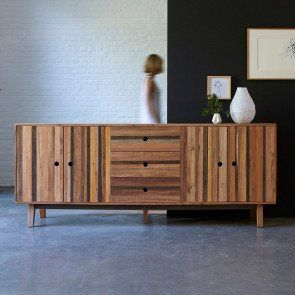 buffet en bois recycles 230 cm
