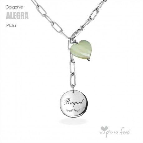 Para Hombre Y Para Mujer Collar Colgante Etiqueta Blanco Cristales Joyas Regalo Personalizado
