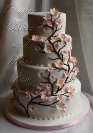 Love my Cherry Blossoms! Cherry Blossom Wedding Cake by Diane's Cakes
