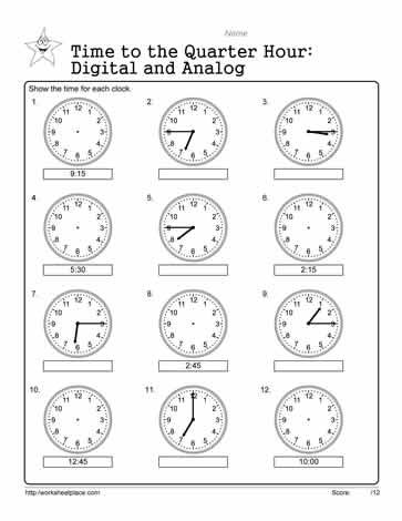 26+ Appealing time to the half hour worksheets Most Effective