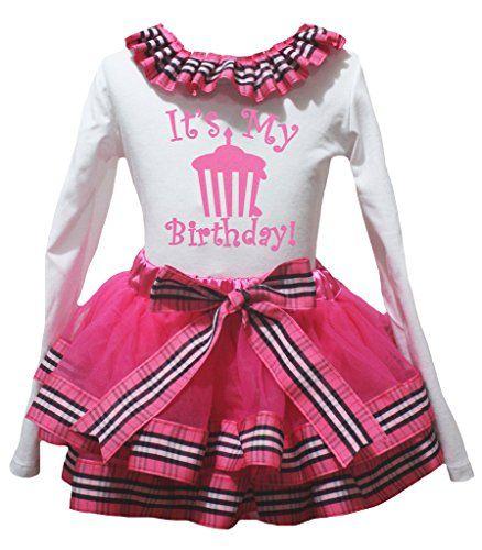 Petitebella Daddy Is My Hero White L//s Shirt Hot Pink Heart Petal Skirt Nb-8y