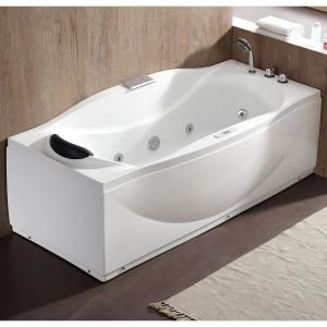 Universal Tubs Malachite 5 Ft Acrylic Corner Drop In Whirlpool Bathtub In White Hd6060swl The Home Depot Jetted Bath Tubs Whirlpool Bathtub Bathtub