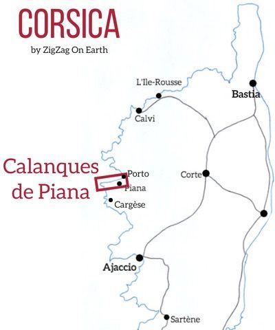Carte Corse Calanque De Piana.Calanques De Piana Corsica Boat Road Hikes Tips