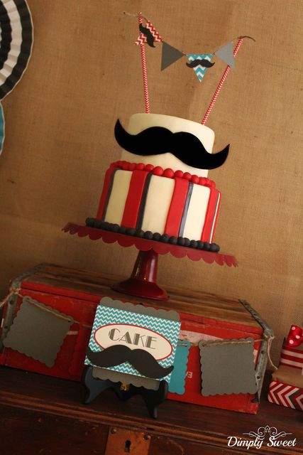 Amazing cake at a Mustache Bash for a Man's Birthday Party