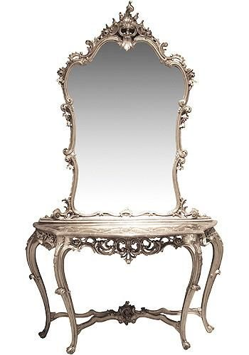 French Chateau Silver Console Table Mirror Silver Console Table Mirrored Console Table Marble Console Table