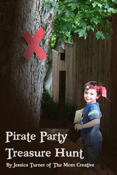 Birthday Party Treasure Hunt All the details to plan an awesome treasure hunt, complete with clues, a map and easy DIY signs. A must-pin!All the details to plan an awesome treasure hunt, complete with clues, a map and easy DIY signs. A must-pin! Pirate Day, Pirate Birthday, Pirate Theme, Pirate Kids, Pirate Treasure Hunt For Kids, Treasure Hunt Birthday, Pirate Party Games, 4th Birthday Parties, Birthday Fun