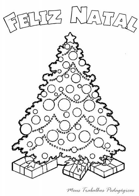 50 Arvores De Natal Para Colorir Imprimir Gratis Para As