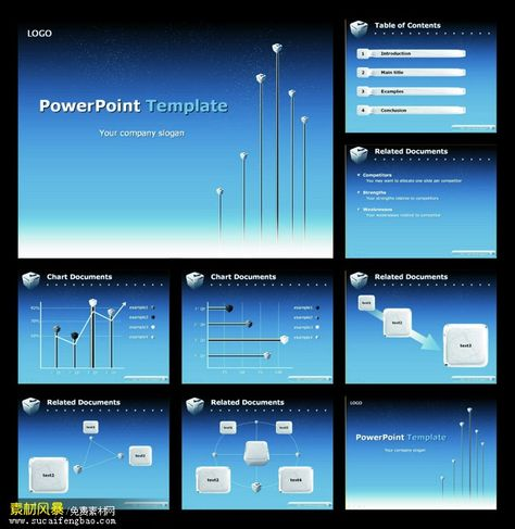 Blue PPT templates free download #PPT# work summary PPT templates - work plan template