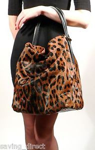 I dream of this bag! New Stuart Weitzman Calf Hair Leopard Print Classic Hobo Leather Handbag | eBay