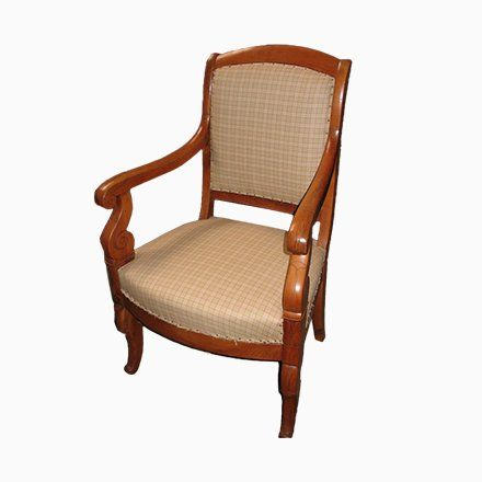 Antique Cherry Wood Armchair Contemporary Furniture Furniture