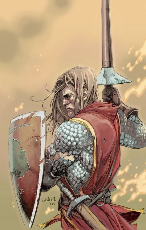 """Ser Duncan The Tall by leinilyu, for The Sworn Sword miniseries. """"They are for…"""