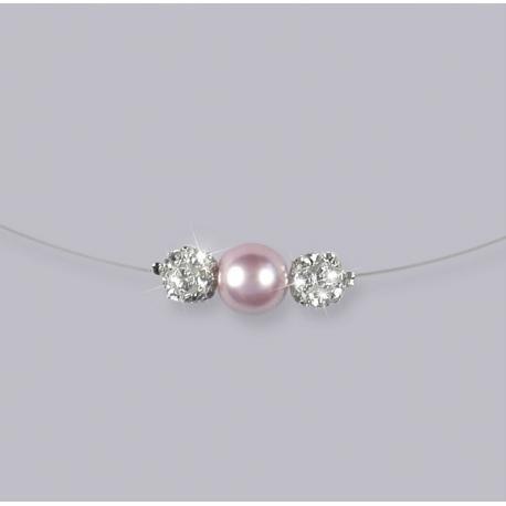 braderie le magasin expédition de baisse Collier mariage EGLANTINE, strass cristal, perle | Colliers ...