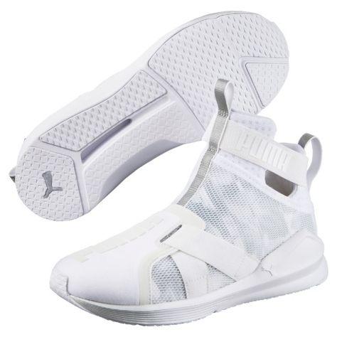 24294bd5b1c Bílé dámské fitness kotníkové boty Puma Fierce Strap Swan Wn S 189461-02