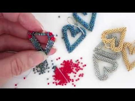 Leslie shows you how to make her new open heart element pattern by using peyote stitch with increases and decreases. Uses delica beads, needle and thread. Knowledge of peyote stitch is helpful.