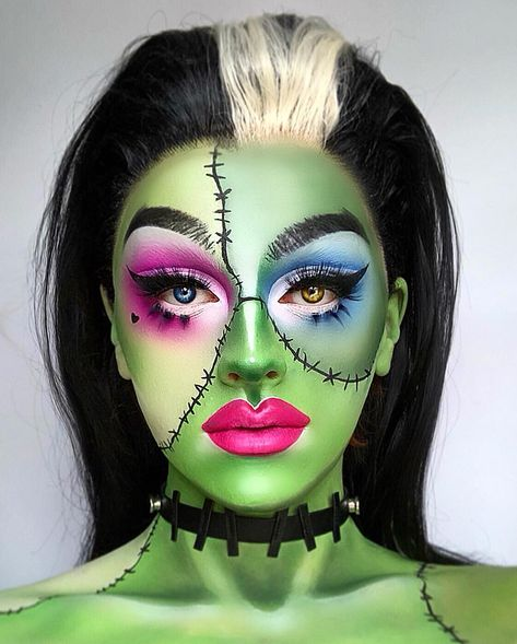 75 Pretty Halloween Makeup Ideas—Minimal Costume Required Pretty Halloween makeup ideas to inspire your costume. From sugar skull and cat to fairy, take a look at these pretty ideas for Halloween! Cool Halloween Makeup, Pretty Halloween, Halloween Costumes, Sugar Skull Halloween Makeup, Skeleton Makeup, Halloween Inspo, Halloween Vampire, Halloween Halloween, Vintage Halloween