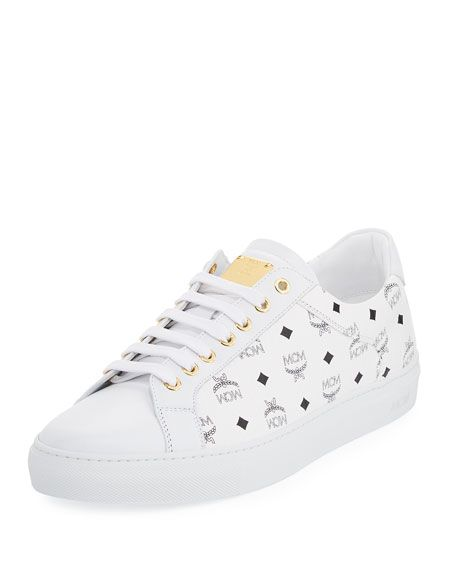 MCM Men/'s Shoes Low Top Classic Sneakers in Leather