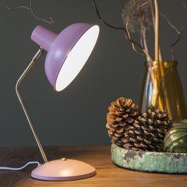 Retro Tischlampe Pink Mit Bronze Milou Retro Tischlampen Lampentisch Moderne Tischlampen