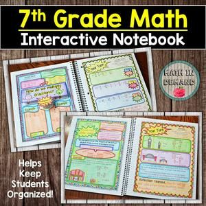 This is a whole years worth of interactive notebook material. Included is 2 versions: Aligned to Concepts, and Aligned to CCSS. This notebook is perfect for any grade math class because you can decide which notebook works best for your classroom! Algebra Interactive Notebooks, Math Notebooks, Hands On Activities, Math Activities, Seventh Grade Math, 7th Grade Writing, Math Reference Sheet, Free Notebook, Notebook Ideas