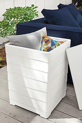 Stash Storage Side Table Modern Outdoor Furniture Room