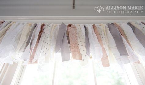 fabric garland as nursery decor
