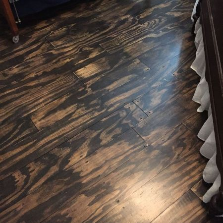 Burnt Wood Floors 11 Fancydecors Plywood Plank Flooring Diy Flooring Budget Flooring Ideas