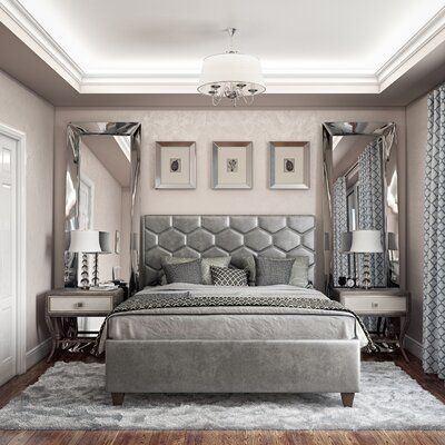 The City Chic Bedroom Collection by Accentrics Home embodies sophisticated, stylish designs that capture the essence of the upscale metropolitan lifestyle. Classical elements mix together in new eclectic patterns to create a contemporary furniture collect Glam Bedroom, Room Ideas Bedroom, Bedroom Sets, Home Decor Bedroom, Bedroom Decor Elegant, Grey Bedroom Design, Master Bedroom, Platform Bedroom, Aesthetic Room Decor