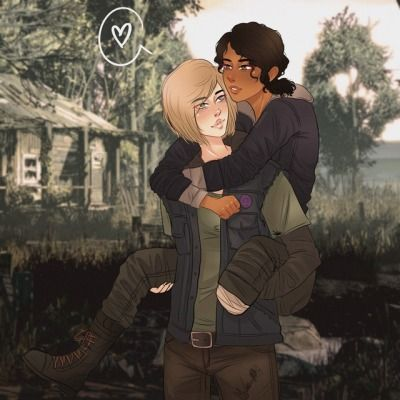Clementine And Violet Tumblr Walking Dead Game Walking Dead Art The Walking Dead Telltale