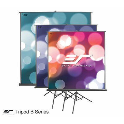 Elite Screens Tripod B White Portable Projection Screen In 2020 Projection Screen Portable Projector Screen Home Cinema Projector