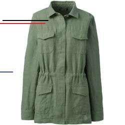Lässige Leinen Jacke für Damen   Lands' End