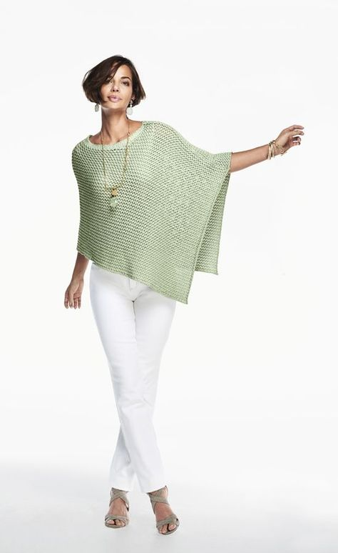 Add a little shimmer to your style with this poncho.