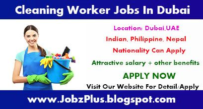 Cleaning Jobs Cleaning Worker Vacancies In Dubai With Images