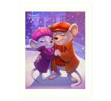 Winter Rescuers Art Print