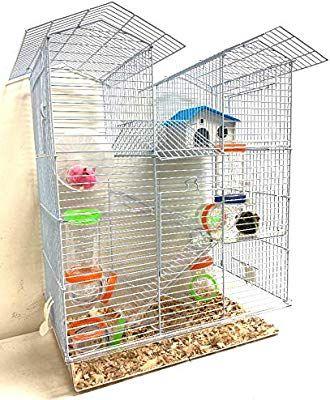 Amazon Com Large 5 Floor Twin Towner Play Tube Habitat Syrian