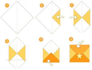 enveloppe en origami facile. Black Bedroom Furniture Sets. Home Design Ideas