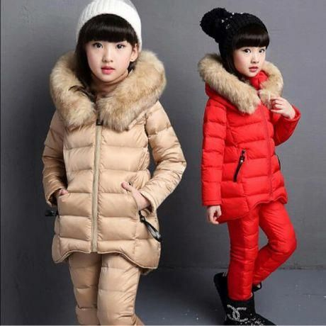 b0b180402 DreamShining Children Clothing Sets Winter Warm Girl Clothes Thicken ...