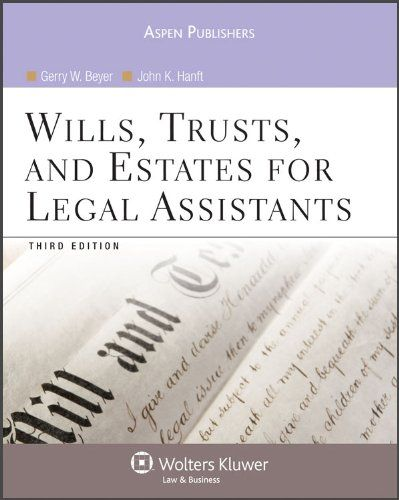 Download Pdf Wills Trusts And Estates For Legal Assistants Free Epub Mobi Ebooks Books To Read Books Estate Planning