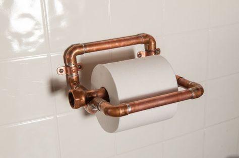 industrie kupfer toilettenpapierhalter von nineandtwenty auf etsy - Diy Toilettenpapierhalter Stand