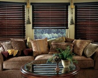 Dark Wood Rich Color For Blinds Bambooblinds Blindsart Wooden Blinds Roller Blinds Living Room Living Room Blinds