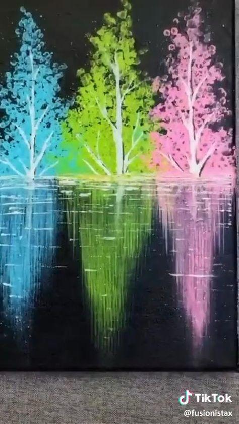 Canvas Painting Tutorials, Diy Canvas Art, Painting Tips, Painting Techniques, Online Painting, Yarn Painting, Easy Canvas Painting, Diy Art, Art Drawings