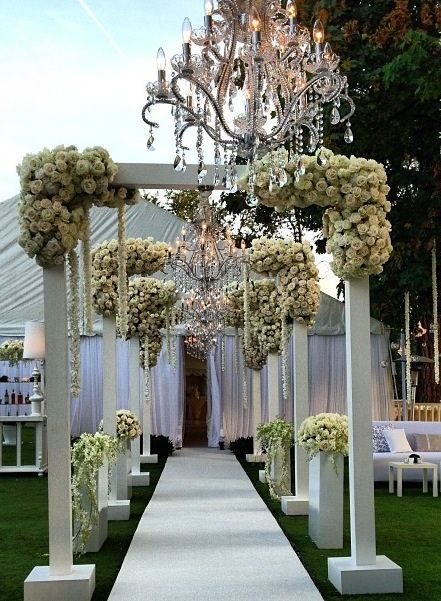 Stunning And Dramatic White Floral Wedding Tent Entrance By Mark S Garde In 2020 Homemade Wedding Decorations Wedding Decorations On A Budget Cheap Wedding Decorations