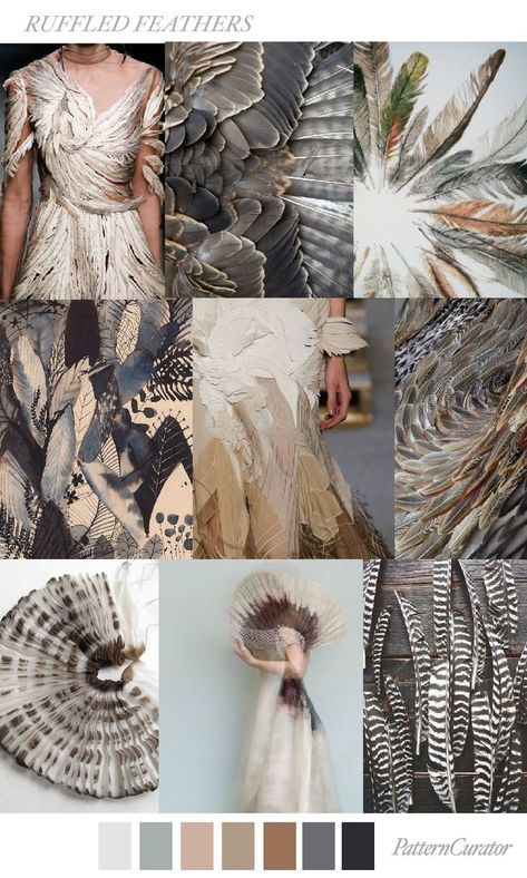 RUFFLED FEATHERS by PatternCurator mood board