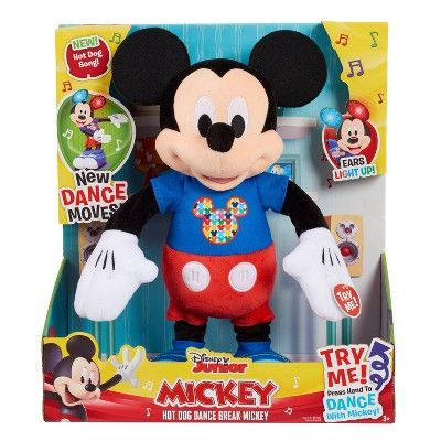 Disney Mickey Mouse Hot Diggity Remix Feature Plush Mickey Mouse