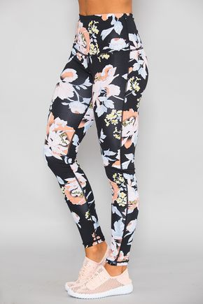 Guess tights tropical floral print women sports clothing