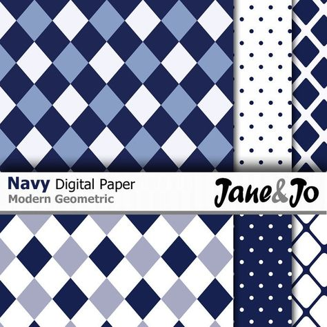 """""""36 Navy digital papers,Dark blue papers,Geometric navy digital patterns ,Printable paper,Scrapbooking,Chevron,Stripes,Dots Instant Download * * * * * * * * * * * * * * * * * * * * * * BUY 2, GET 1 FREE! Purchase any 2 items and get a 3rd item of equal or lesser value free! Add all three items to your cart and use coupon code BUYME to redeem your offer. Please make sure that the discount has been applied before you proceed with your payment. Add three items to your cart and don't miss our coupon"""